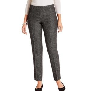 Talbots dark grey fully lined sequins pants